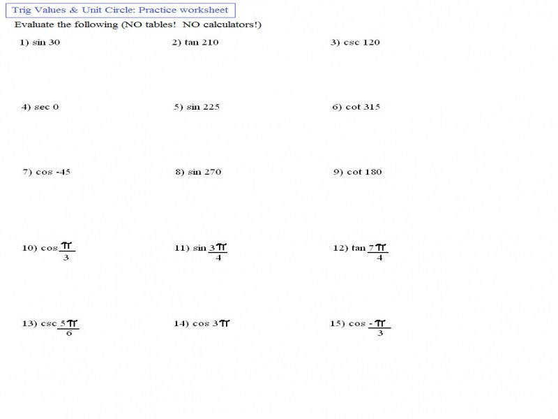 Solving Trigonometric Equations Worksheet Guillermotull