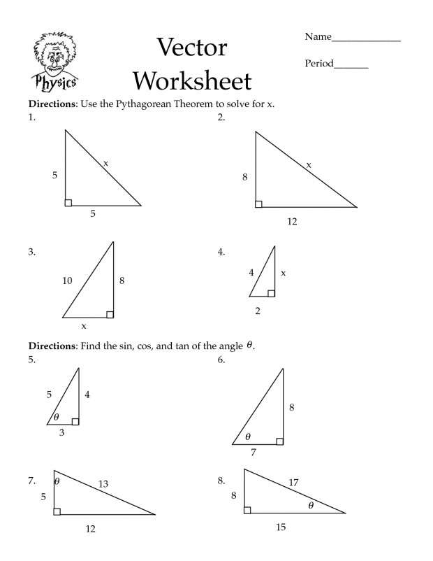 Sin cos tan worksheet vision Sin Cos Tan Worksheet Concept Excellent Pythagorean Theorem Worksheets Law
