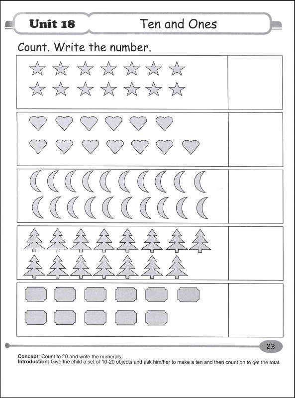 singapore math kindergarten worksheets