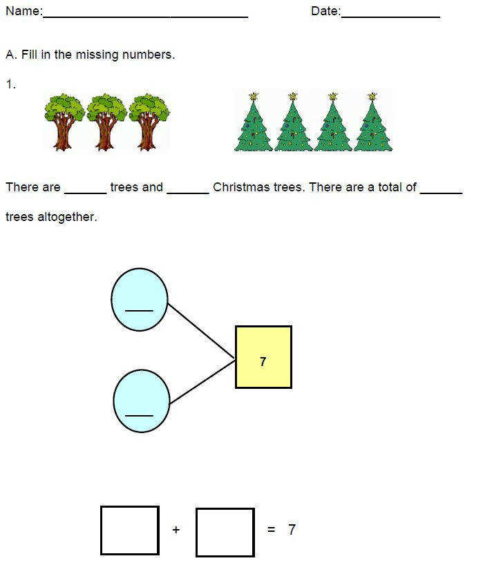Printable addition worksheets for Grade Learn to add using number bonds Include illustration pictorial aids and answer keys