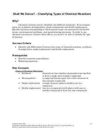 Predicting Products of Chemical reactions Worksheet Solutions
