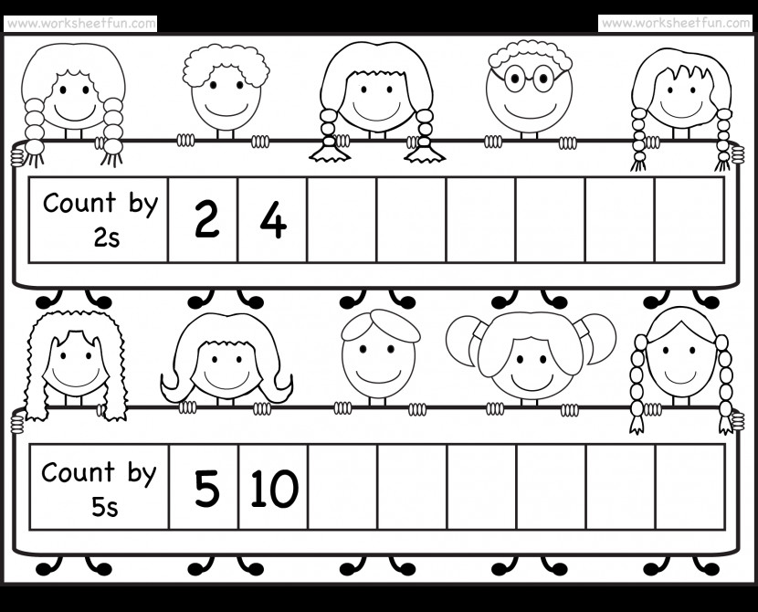Skip Counting By 2 And 5 Worksheet Free Printable Worksheets Kids Boards Wfun Skip Count