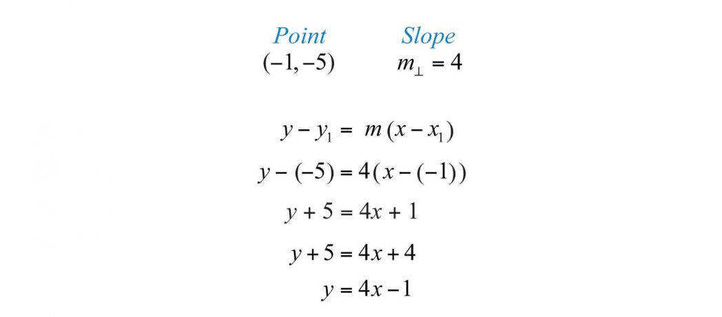 Parallel And Perpendicular Lines 478a16e2c7c0dc566f0d4b Write An Equation In Slope Intercept Form Form
