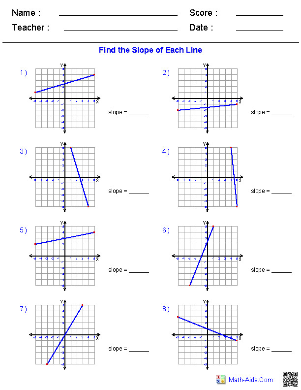 Finding Slope from a Graphed Line