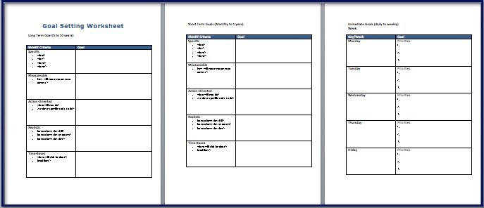 Goal Setting Worksheet Avid Pinterest Goal Setting Worksheet 40