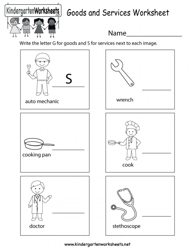 Free Printable Goods And Services Worksheet For Kindergarten Thanksgiving Social Stu s Works Kindergarten Social Stu s Worksheets