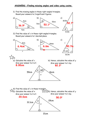 Quiz worksheet sohcahtoa practice problems study print definition example worksheet