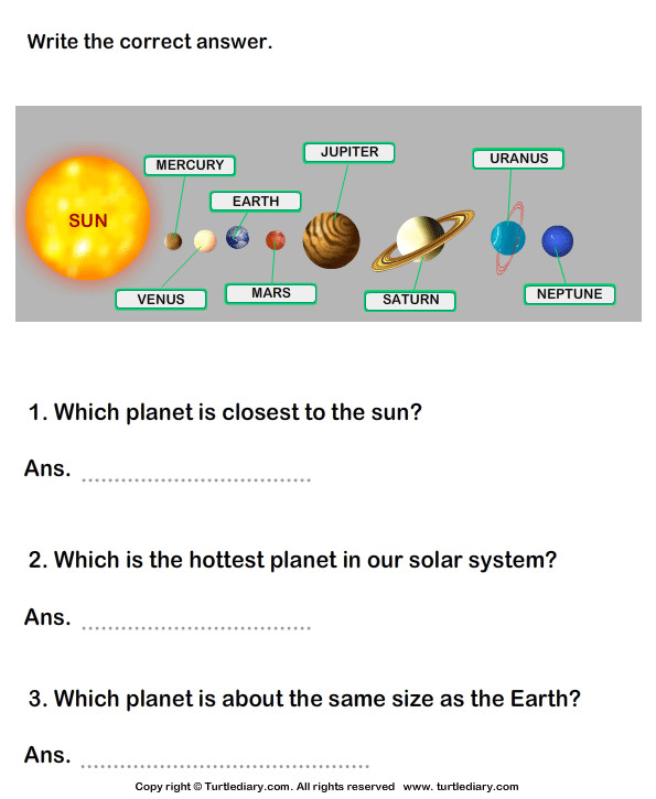 Solar System Answer the Questions