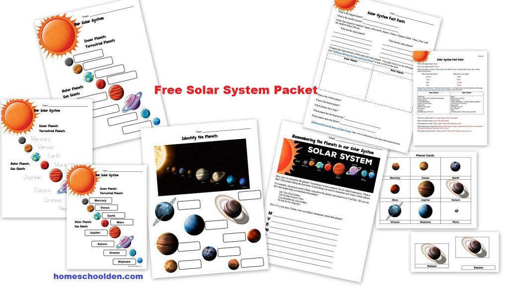 Free Planets of the Solar System Worksheets