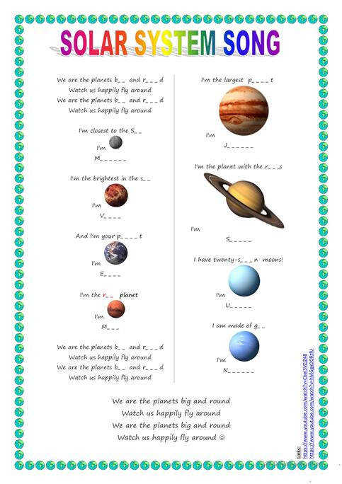 Song for kids Planets Solar System song