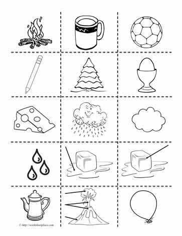 Cliparts Solid Liquid Gas States of MatterWorksheets