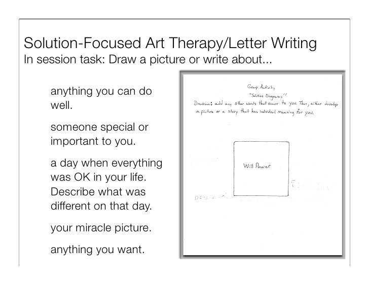 Solution Focused Art Therapy Letter