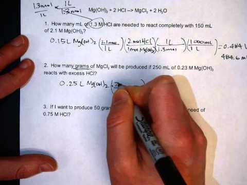 Solving Solution Stoichiometry Problems