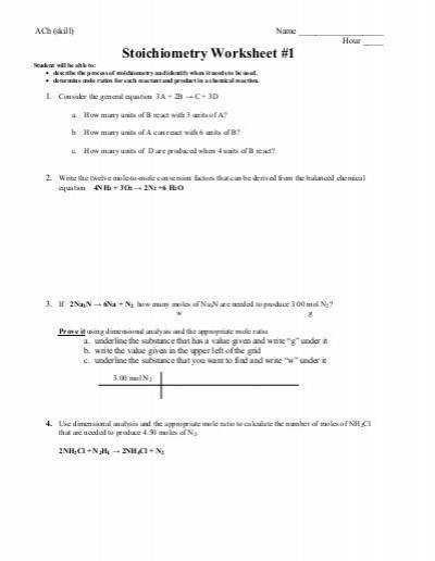 Worksheet 4 4 Mass–mass stoichiometry ghuangsir