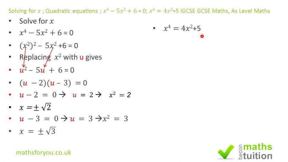 Gorgeous Solving For X Quadratic Equations Xx Problems size