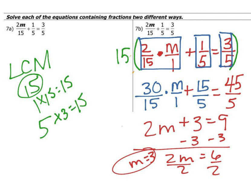 Showme Solving Multi Step Equations Algebra Fractions With 2 Worksheet Pdf Last Thumb Equations With Fractions