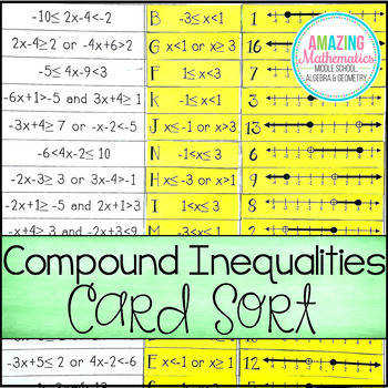 pound Inequalities Card Match Activity