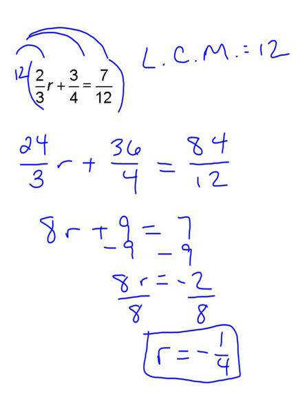 Notice how after we have gotten the fractions out of the way it works exactly like our first example