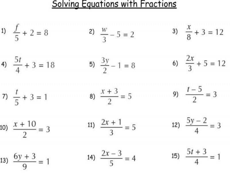 Multi Step Equations With Variables Both Sides Worksheet Pdf