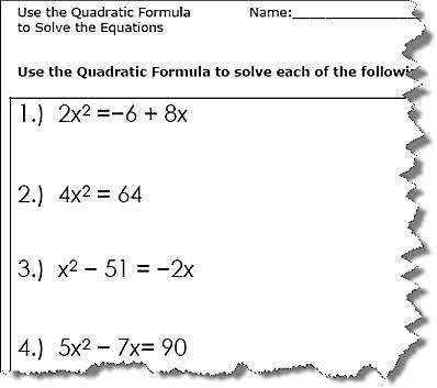 Quadratic Formula
