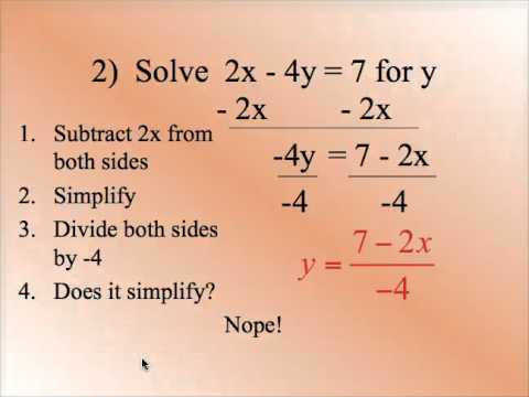 0 2E Solve Literal Equations Formulas for a Specified Variable