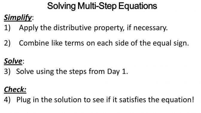 Solving A Multi Step Equation Jennarocca Equations Worksheet 8th Grade Sl Solving Multiple Step Equations Worksheet