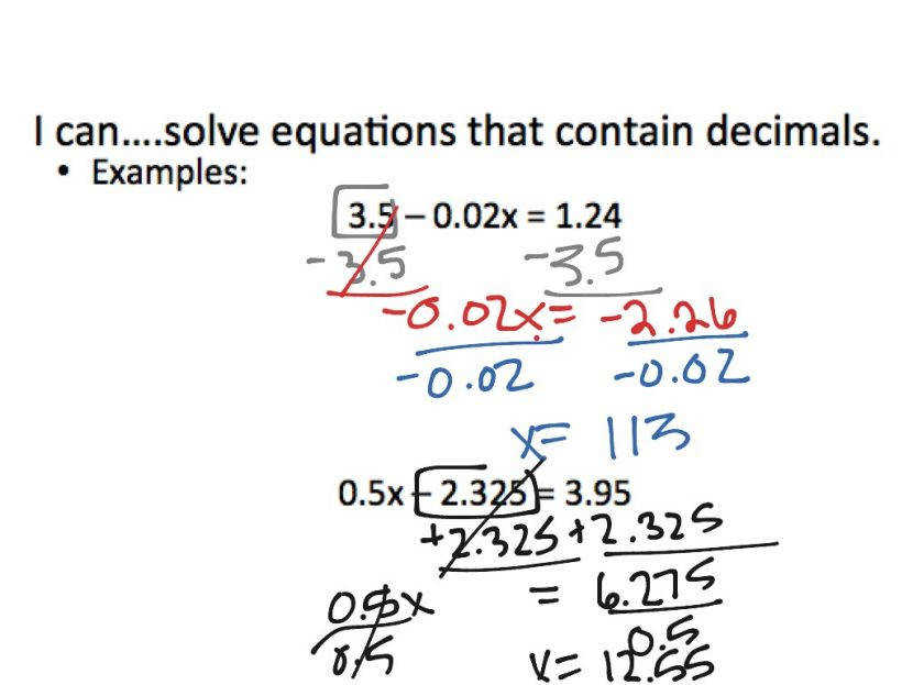 2 3 Solving Multi Step Equations With Fractions And Decimals Worksheet Tes Last Thumb