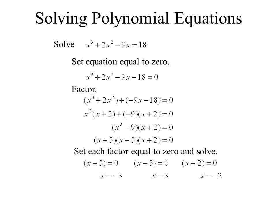 6 4 Factoring And Solving Polynomial Equations Ppt Download