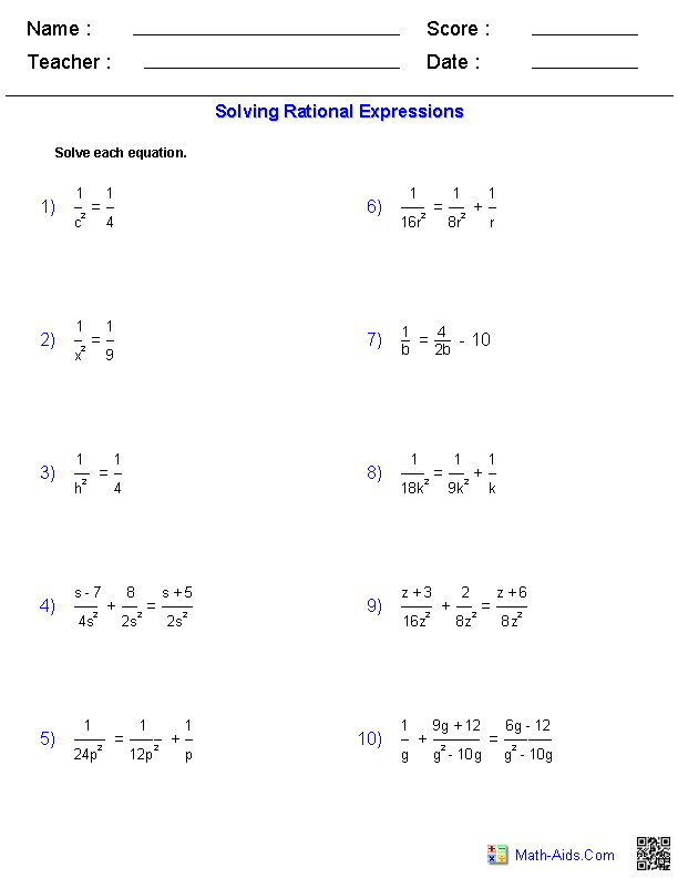 solving expression