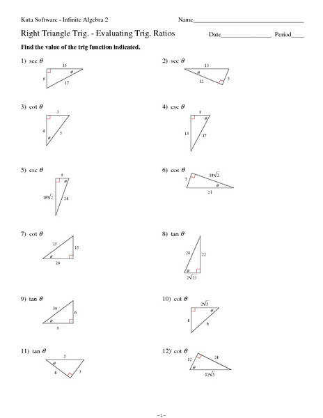 Special Right Triangles Fun Worksheetml 1000 Ideas About