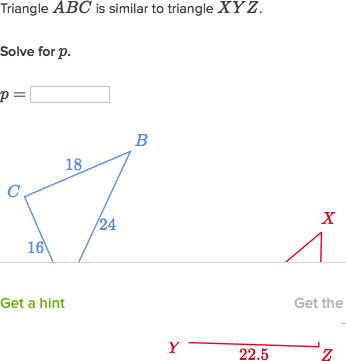 Solving similar triangles same side plays different roles video