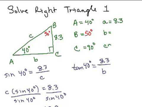 Solve Right Triangles 1
