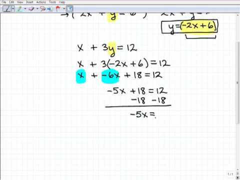 hqdefault solving linear systems substitution method from solving systems by substitution worksheet - Solving Systems By Substitution Worksheet