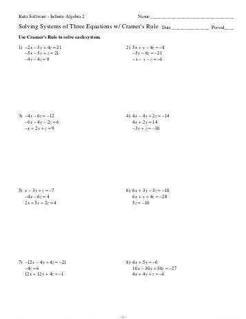 Worksheets Solving Systems Equations Algebraically Worksheet solving for a variable worksheet kuta intrepidpath direct and