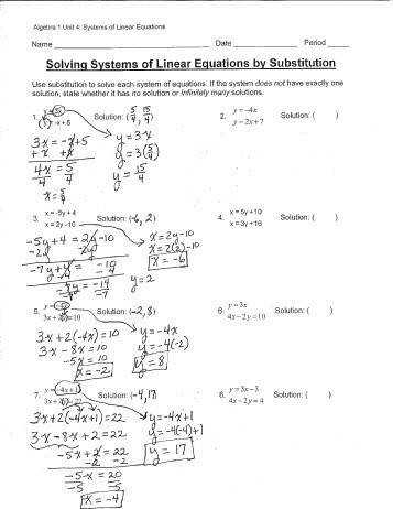 Solving Systems Equations Using Elimination Worksheet