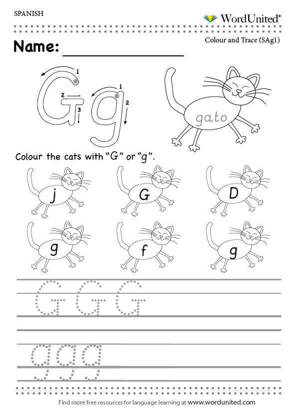 Read and write the Spanish alphabet WordUnited free worksheet MFL