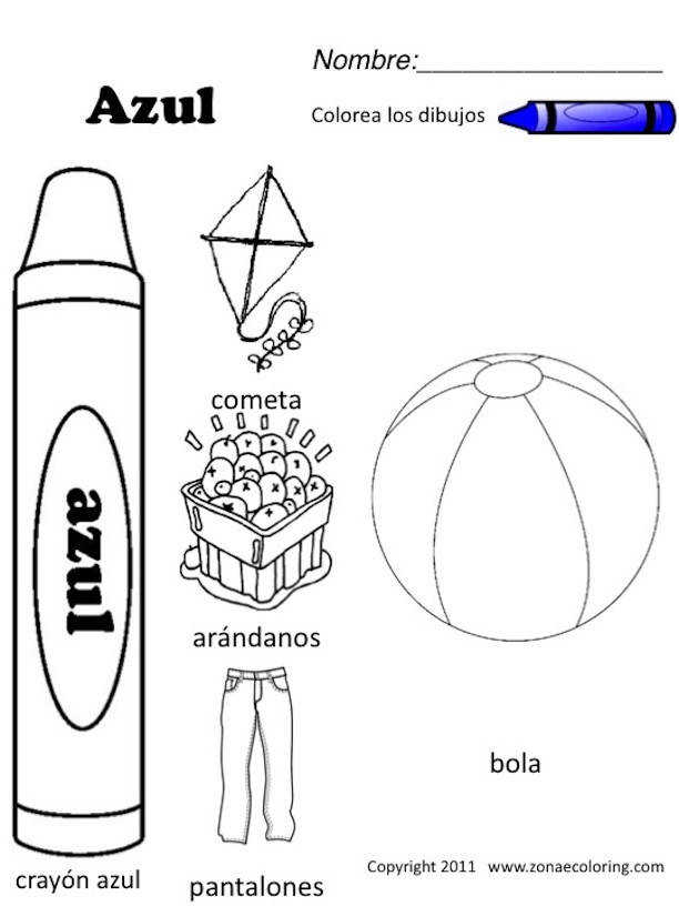 Printable Colors In Spanish Printable Kids Worksheets Free