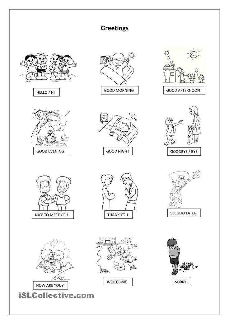 Greetings Pictionary worksheet Free ESL printable worksheets made by teachers