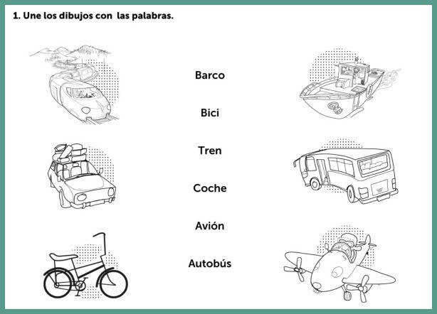 Spanish worksheets provide structured practice with vocabulary