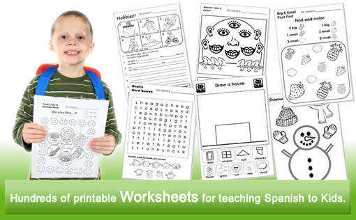 Spanish kids lesson plans worksheets flashcards songs readers games