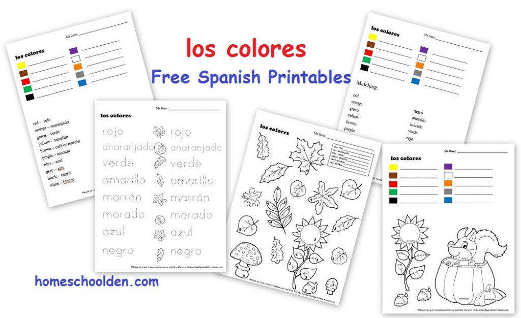free spanish worksheets los colores