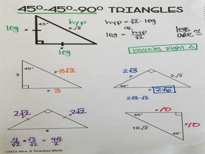 Best 25 Special Right Triangle Ideas Pinterest
