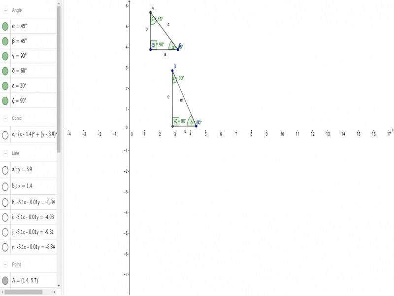 Special Right Triangles 45 45 90 Degree And 30 60 90 Geogebra