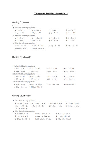 Speed Distance and Time worksheet 3 Free Year 8 Algebra Revision with answers