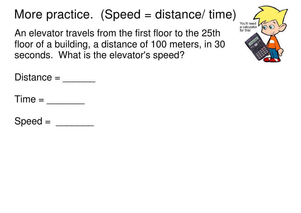math worksheet motion speed velocity ppt Distance Time Speed Practice Problems Worksheet Answers