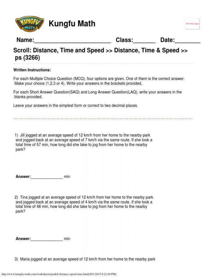 Speed Worksheet Homeschooldressage