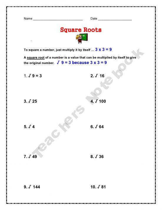I have searched and searched and could not find any simple square root worksheets