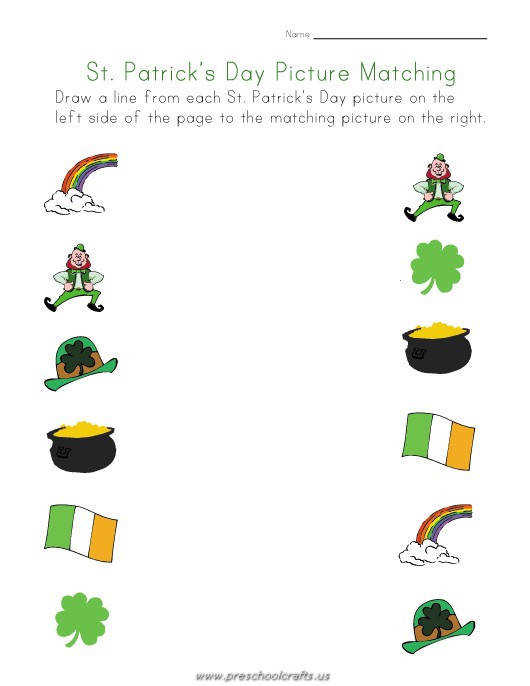 st patrick day worksheets for kindergarten