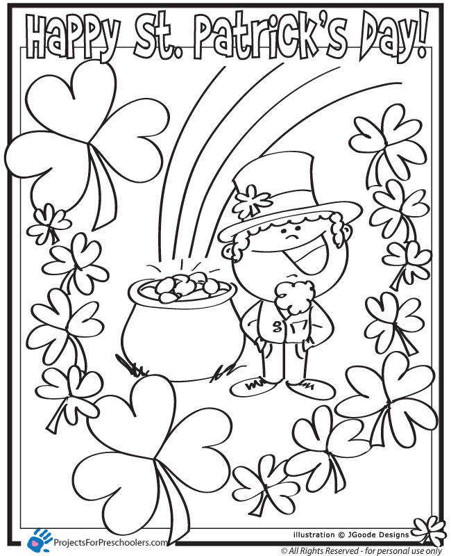 Childrens library printables Keep Healthy Eating Simple Coloring Pages St Patricks Day Free Printable Coloring Pages