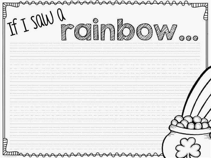 If I Saw a Rainbow Worksheet for Kids